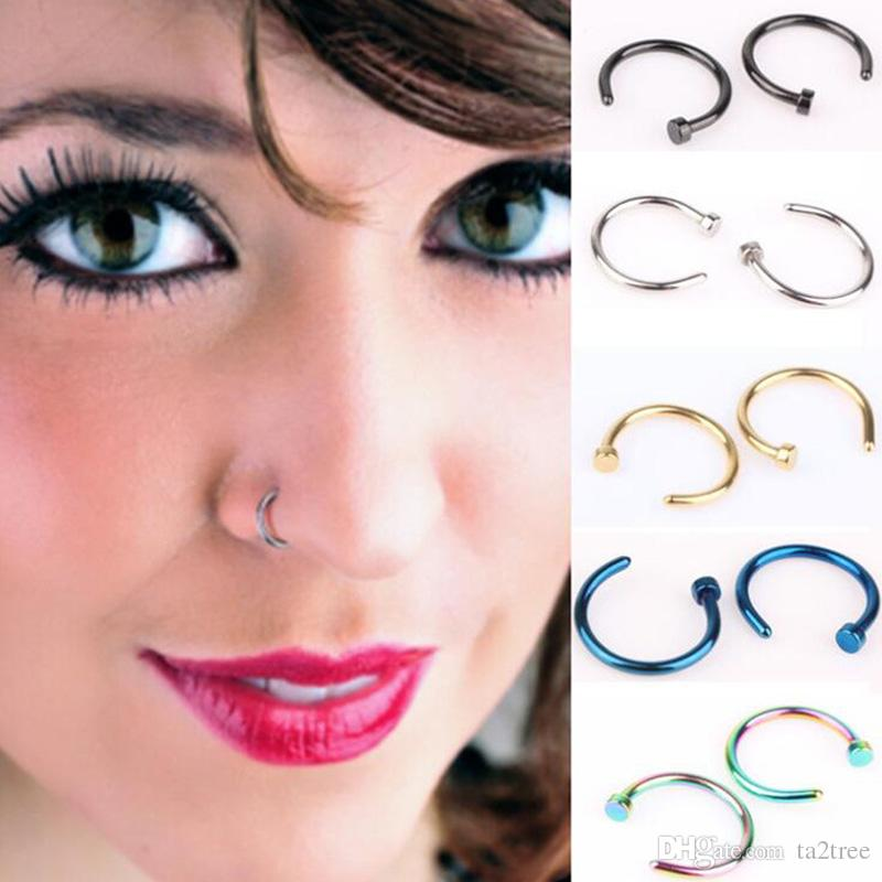 C Shaped Nose Rings Titanium Steel Nose Jewellery Body Piercing Studs For Men And Women