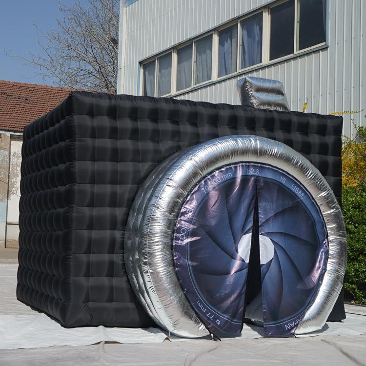 Im Freien aufblasbaren Fotokabine Werbung aufblasbare schwarzen Kubus Zelt im Freien exhibitional aufblasbaren Fotokabine