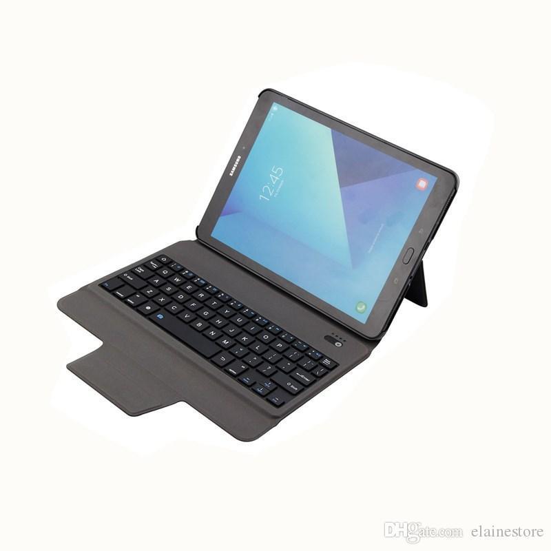 2020 neue drahtlose Bluetooth Tastatur-Kasten mit Standplatzhaltern für Samsung Tab S3 9.7 T820 / T825 Abdeckungsfall