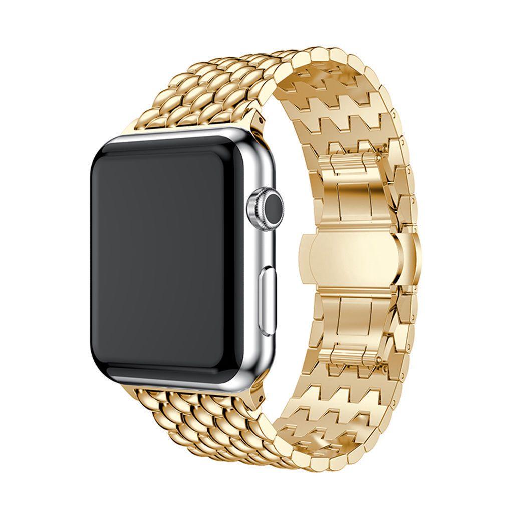 Venda Por Atacado luxo de aço inoxidável link pulseira banda para apple watch series 1 2 3 4 durável iwatch pulseira de aço inoxidável 38/42 mm