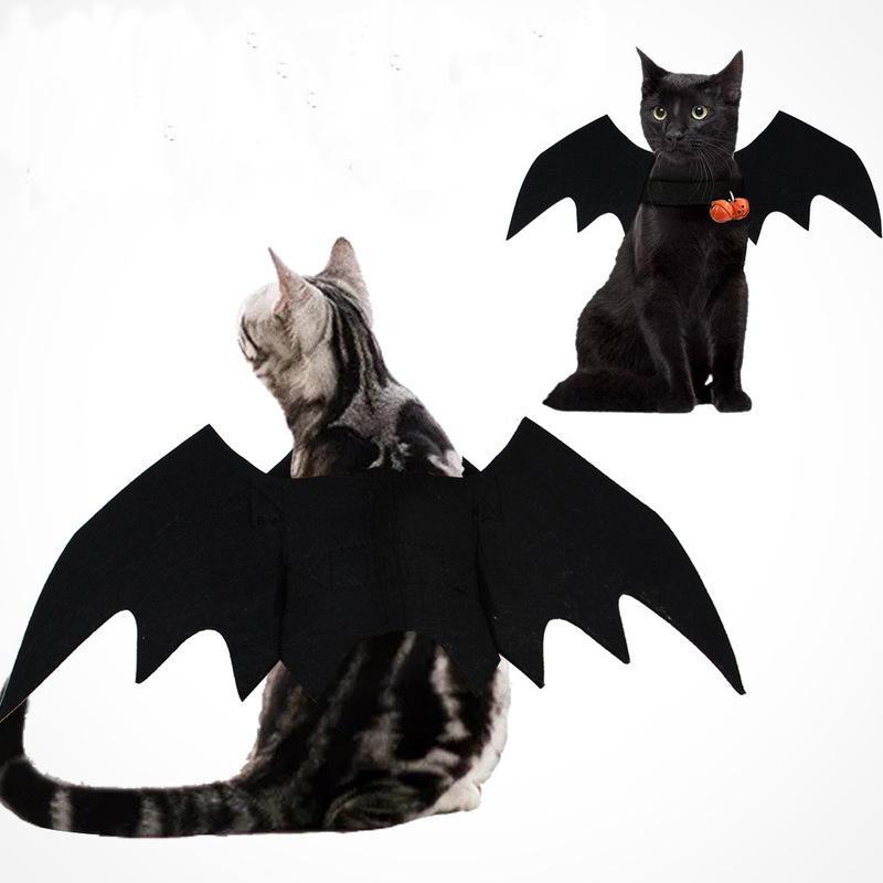 ازياء القطة كلب بات الجناح تأثيري هالوين الدعامة بات ملابس تنكرية زي الزي أجنحة القط صور الدعائم أغطية الرأس