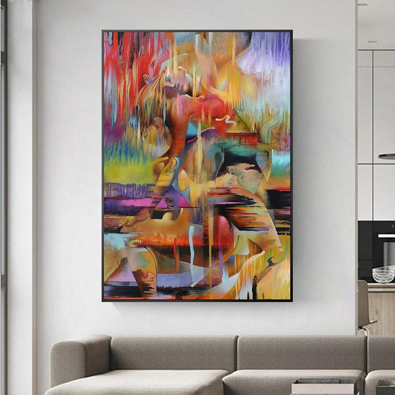 2020 Hot Selling Wall Art Painting Abstract Characters Living Room ...