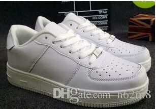 Бесплатная доставка размер бренда 36-44 2019 обновленная версия новые все белые туфли мужчины и женщины Модные Повседневная обувь Обувь