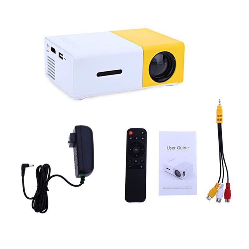 YG300 LED Projetor 600 Lumen 3.5mm Audio 320x240 Pixels YG-300 USB Mini Projetor Home Media Player