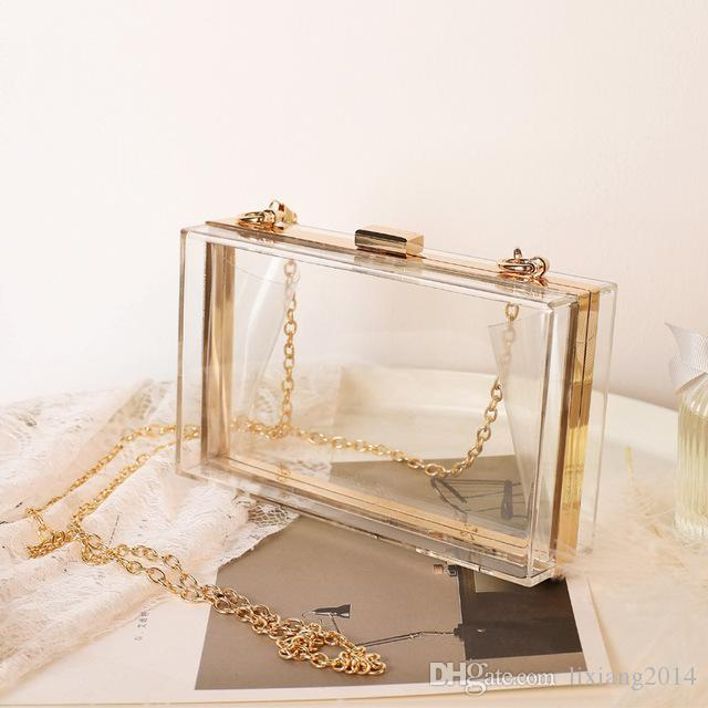 Women Acrylic Clear Purse Cute Transparent Crossbody Bag Lucite See Through Handbags Evening Clutch Events Stadium Approved 824