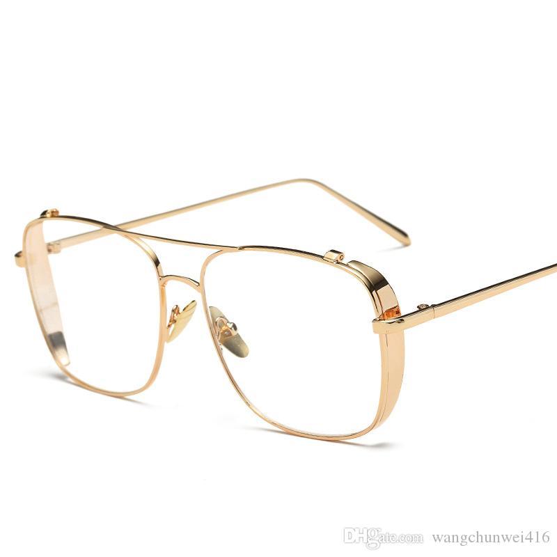 fashion glasses clear lens glasses men glasses sunglasses women 2019 new fashion street street sunglasses 3 color