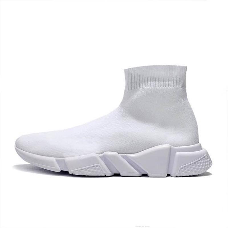 parıltı moda 2020 tasarımcının çorap Hız Eğitmen üçlü platform ayakkabı siyah beyaz erkekler kadınlar moda spor ayakkabısı Günlük Ayakkabılar 36-45 10 PB mens