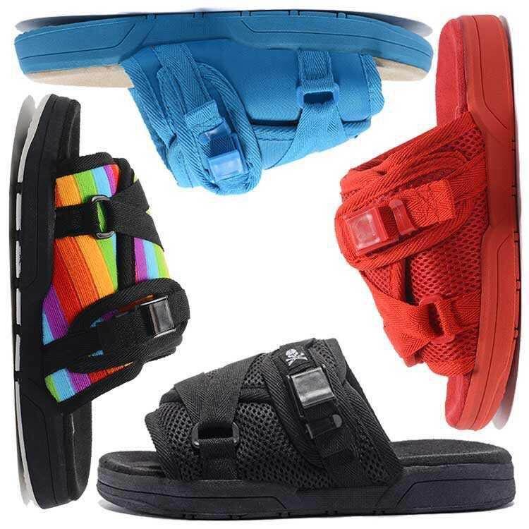 Marque Visvim Designer Pantoufles Chaussures De Mode Homme Chaussures Décontractées Pantoufles Plage Sandales Pantoufles Extérieur Hip-hop Rue Femmes Designer Sandales
