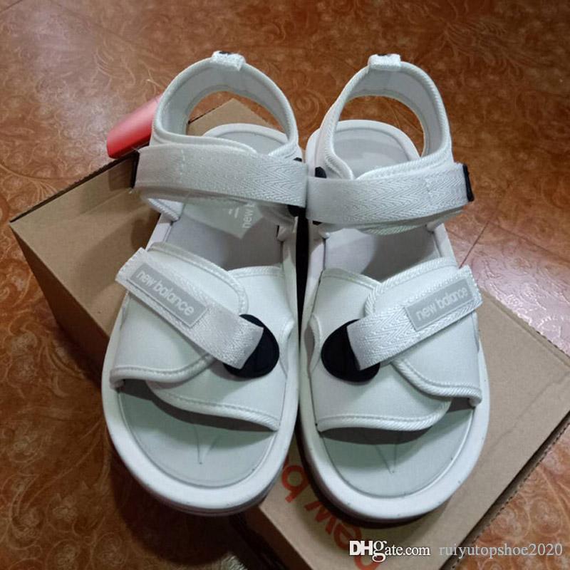 Estate Velcro pantofole dei sandali delle donne degli uomini casuali Designer Shoes coperta confortevole scivolare su Scuffs esterna Mare Beach Hook Loop Fastener pantofole