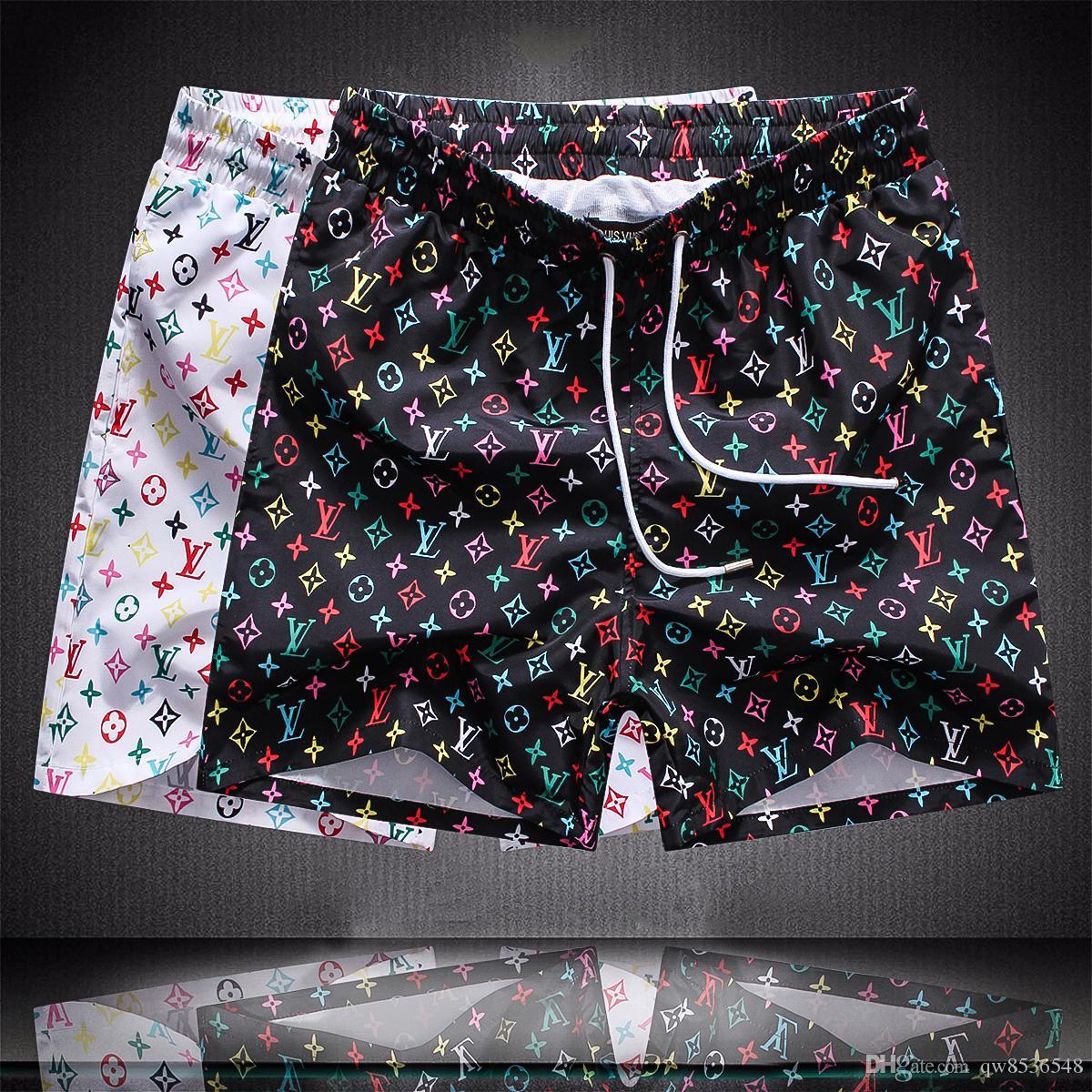 2019 Оптовая летняя мода шорты новый дизайнер доска короткие быстросохнущие купальники печать доска пляжные брюки мужчины мужские шорты для плавания M-3XL L1