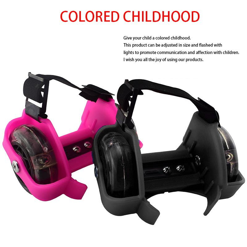 flashing roller Colorful Roller Whirlwind Pulley Flash Wheels Heel Adjustable Simply Skating Shoes for kids