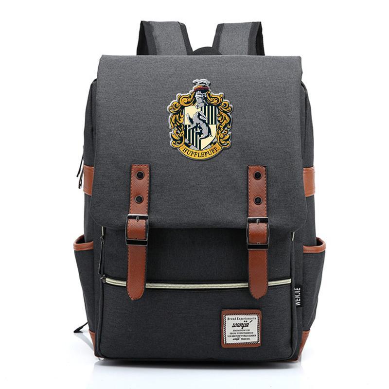 Designer Magia Hogwarts Ravenclaw Slytherin Gryffindor Boy Girl Estudar Bag adolescentes Mochilas escolares Mulheres Homens Mochila