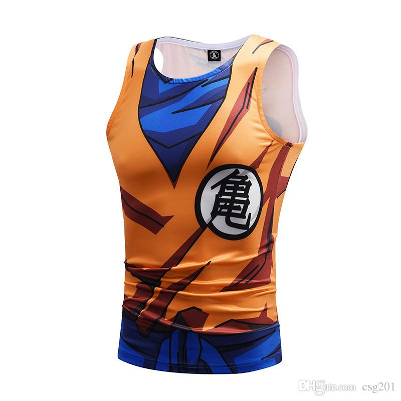 Dragon Ball Tank Tops Compression Clothing Sleeveless Gym Vest Vegeta Tanktop Son Goku Cosplay Singlet Sport Wear Tank Top