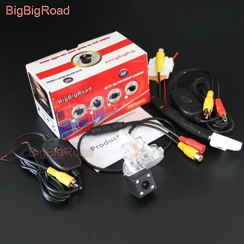 BigBigRoad Car Rear View Reverse Parking Camera Upgrade Original Car OEM Monitor for 3 3 Hatchback BM 2013~2017