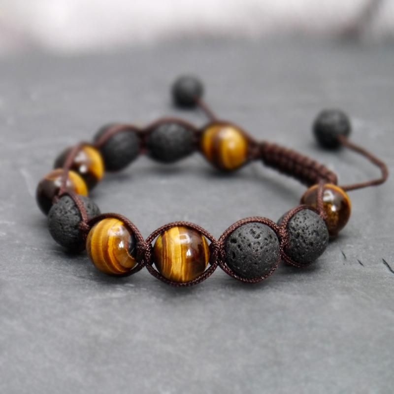 fascino braccialetto / fascino / coppia / uomini braccialetto tigre naturale bracciali in pietra occhio braccialetti fatti a mano da uomo su misura braccialetti 2019 Jewelry