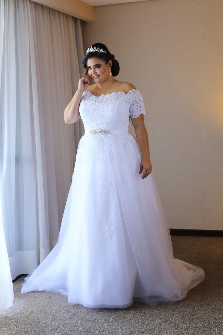 2020 элегантный дешевые свадебные платья плюс размер с короткими рукавами аппликация кружева топ тюль юбка Кристалл Лента корсет свадебные платья