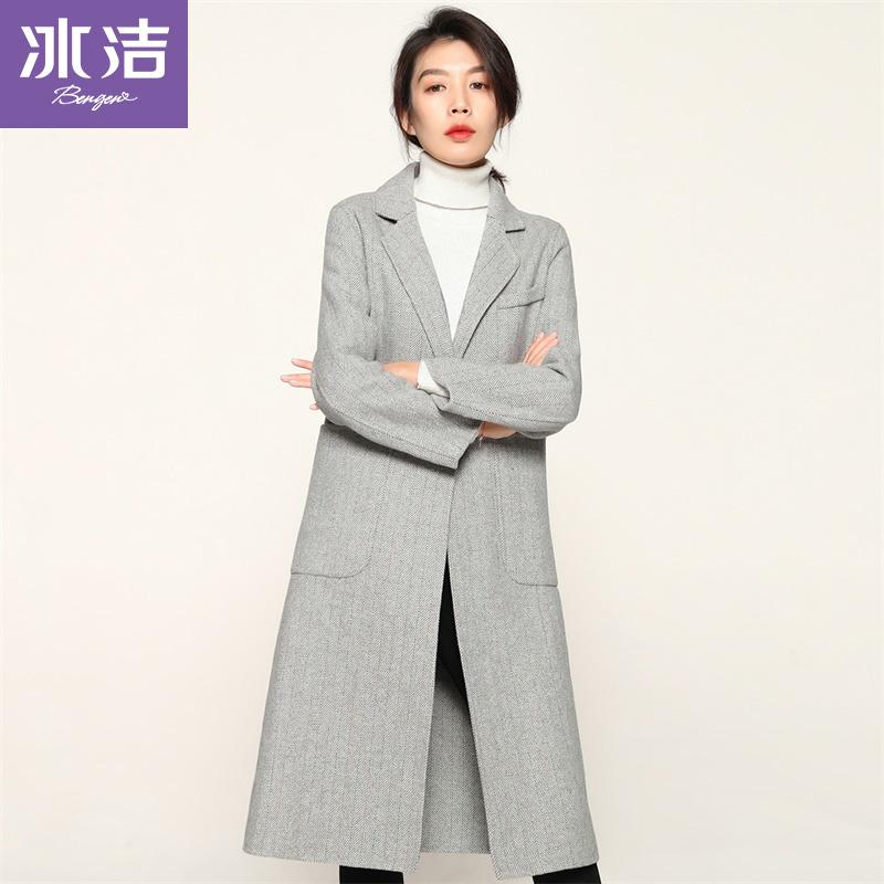 BG Wool Women Cappotto di lana monopetto elegante allentato di alta qualità plus size da donna Cappotti casual coreani J80530042