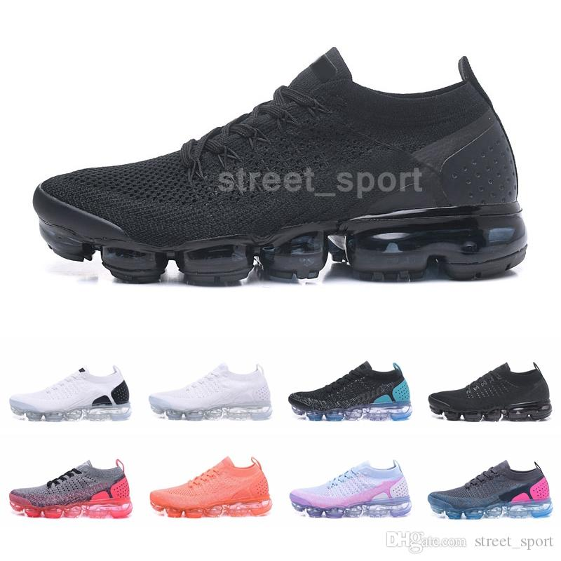 2019 Knit 2.0 Running Shoes for Men Womens Designer Sneakers Fashion Vapors Pink Breathble Moc Sports Schuhe Trainers Maxes Size 45