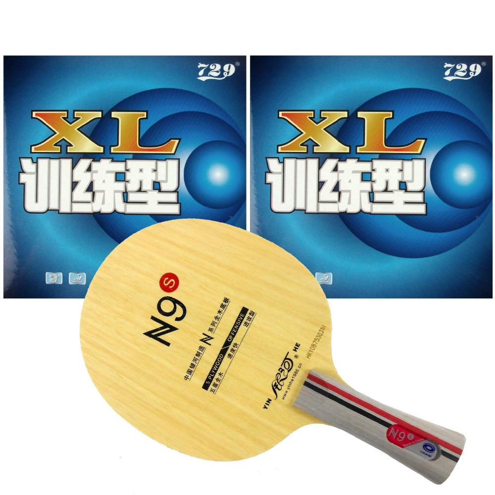 Pro Table Tennis PingPong Combo Racket Galaxy YINHE N9s with 2Pieces 729 XL 2015 Factory At a loss Direct Selling Shakehand FL T200410