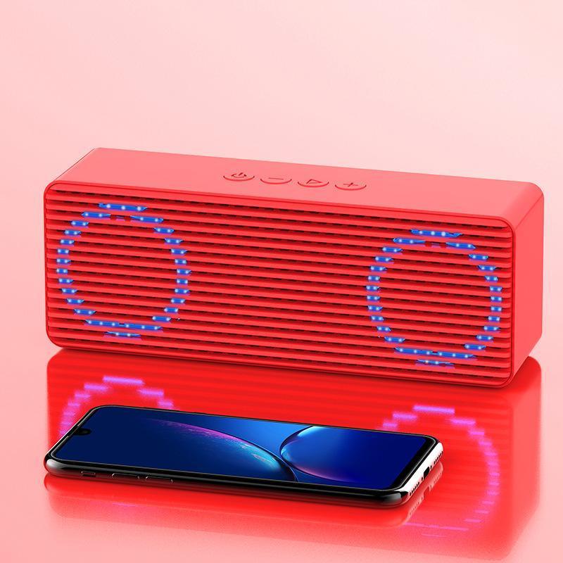 Hifi Wireless dazzle light Bluetooth Speaker Column Stereo Portable Outdoor Bass Subwoofer Handsfree Music Light pulse luminous Loudspeakers