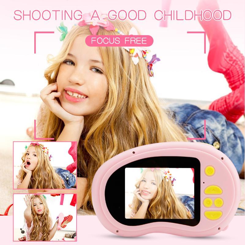 Çocuklar Kamera 2.0 inç IPS HD ekran Oyuncak Mini Güzel Çocuk Anti-shake Çocuk Hediyesi için Dijital Kamera Max Bellek Genişleme 32GB
