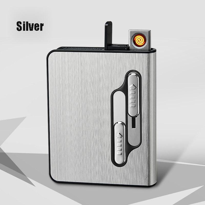 Новый USB Зарядка портсигар Зажигалка 10 Палочки вольфрама прикуривателя Электронная зажигалка Личность Diy Пользовательские