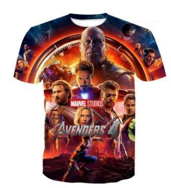 Men Women Summer Tshirt Short Sleeved Marvel Movie Tees Avengers 4 3d Print t shirts