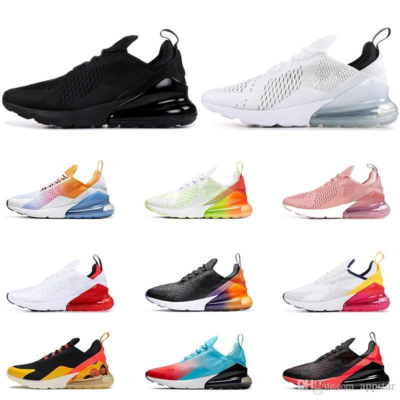 2020 El calzado para correr para los hombres Negro arco iris del gradiente voltios Orang retroceso Futuro Triple Negro blanco de uva deportes para mujer zapatilla de deporte de tamaño 36-45