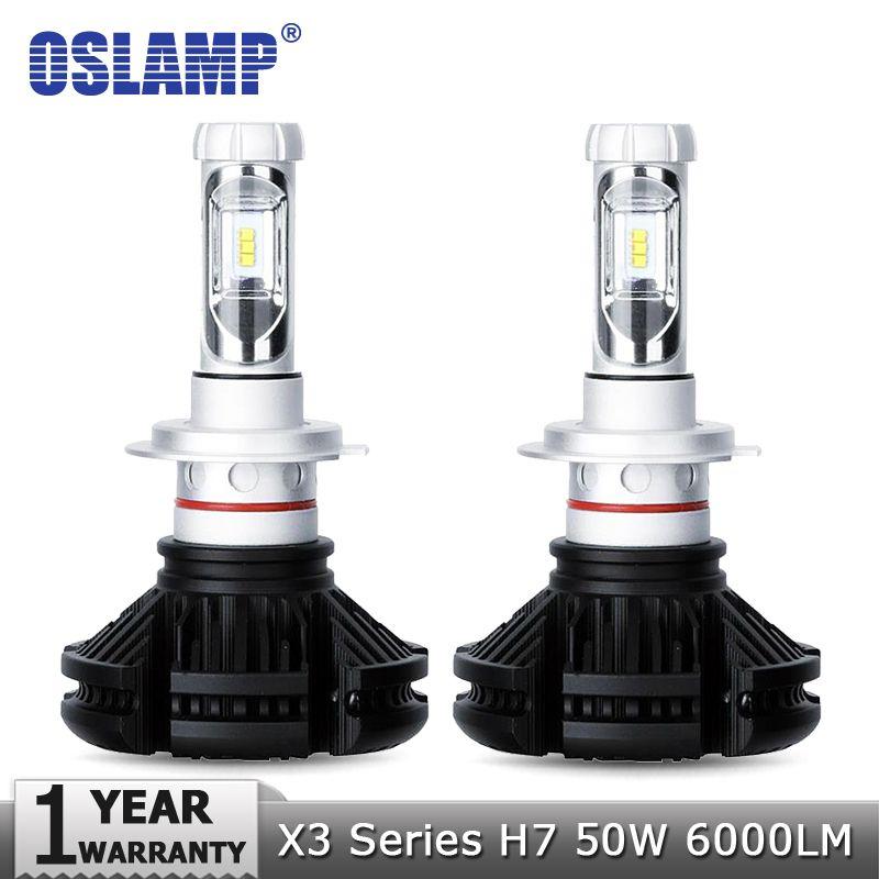 6500K 1x H7 LED Headlight Bulbs Light 50W 6000LM Car Conversion 3000K 8000K