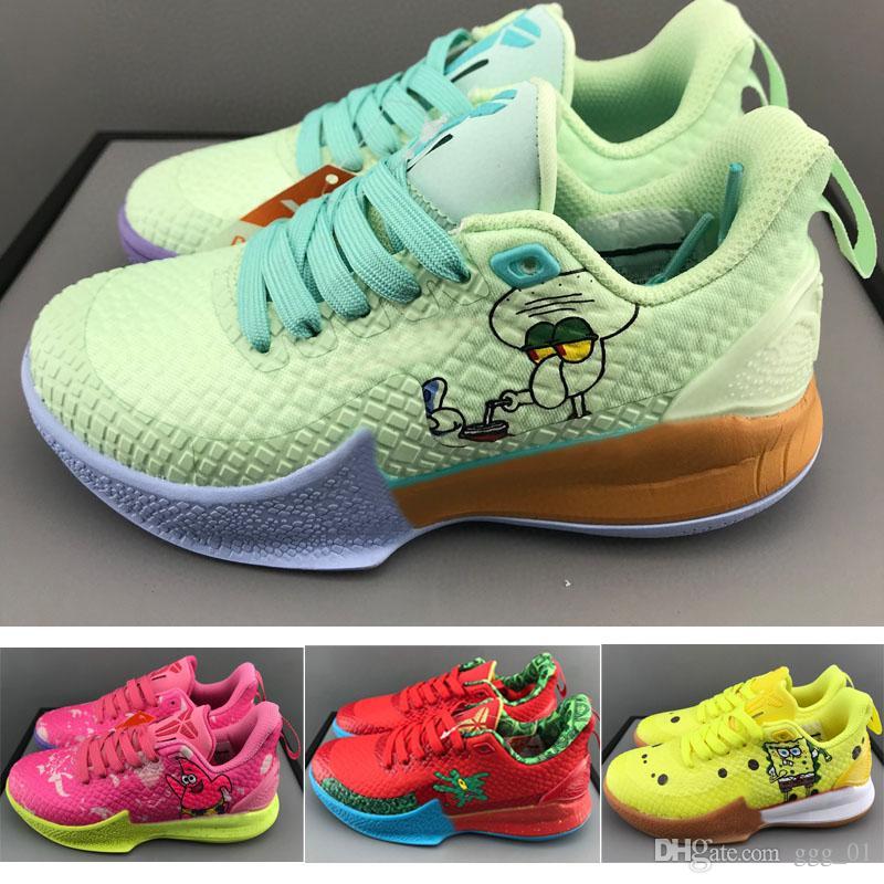 LAKER KOBE 2020 Los Angeles foco dos desenhos animados Ep Crianças esporte criança tênis de basquete menino juventude Menina Running basquete Sneaker tamanho 28-35