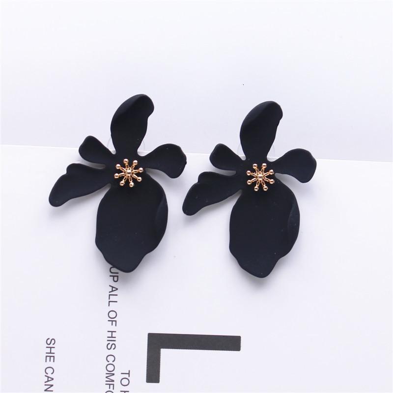 2020 neuer Entwurfs-Modeschmuck elegante große Blumen-Ohrringe Sommer-Art-Strand-Party-Statement Ohrring für Mädchen Geschenk für Frau
