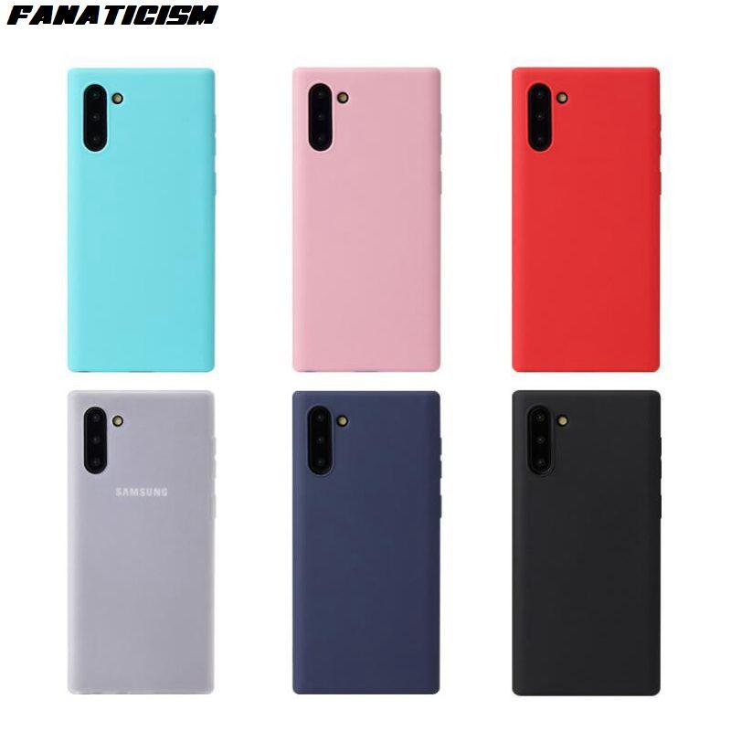 Matte doce cor capa para Samsung Galaxy M10 M20 M30 M30s M40 Nota 8 9 10 Além disso borracha TPU silicone à prova de choque macia capa