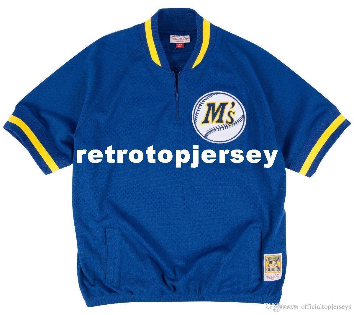 Ken Griffey Jr. Seattle # 24 Mitchell Ness Retro 1992 Jacket Warm-Up