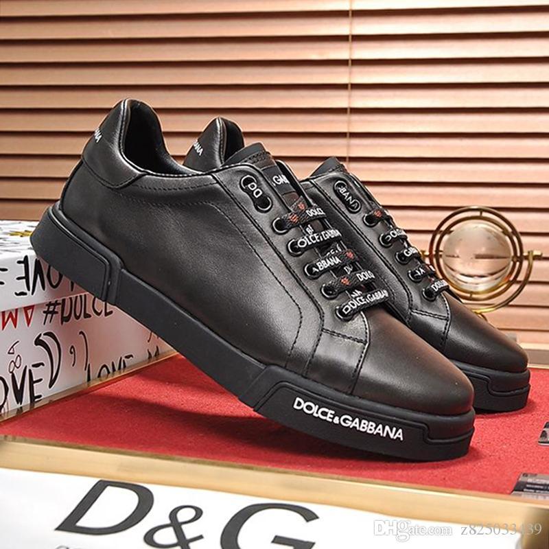 Die Schuhe der Männer beiläufige Kalbsleder Turnschuhe Lace-Up Leder Big Size Herren Schuhe Fashion Sneakers Scarpe da uomo Wohnungen Plattform Sale Herren Schuhe Mode