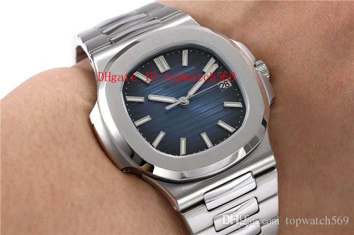 KS 40MM Nautilus 5711 / 1A del reloj del reloj mecánico automático Cal.324 28800 vph cristal de zafiro CNC acero inoxidable super luminosa