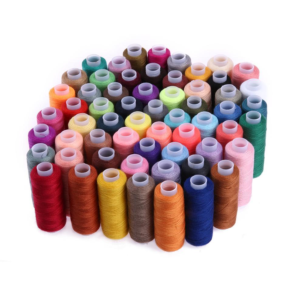 60 cores 250 Quintal costura fio de poliéster bordado Linhas de costura Máquina de Ponto Cruz Floss Kit Ferramentas estofar