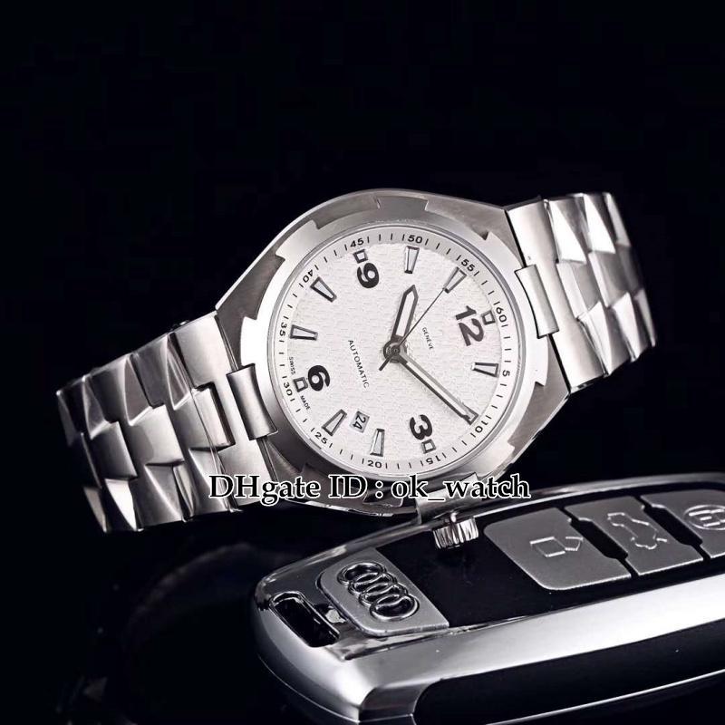 5 cores NOVA Ultramarino 47040 / B01A-9093 Miyota 8219 Automático Mens Watch caso Prata mostrador branco Gents esporte relógios pulseira de aço Inoxidável