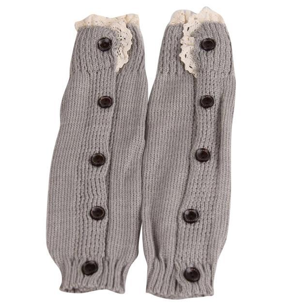 LONSANT Newborn Kids leg warmers winter Crochet Knitted Lace button Cuffs lovely Baby Girl fashion soft pretty Leg Warmer