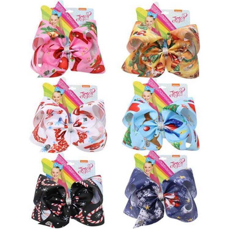 7 pouces Siwa révérences pour les filles Siwa Noël Bows cheveux avec accessoires de cheveux pince à cheveux Bows 6 couleurs