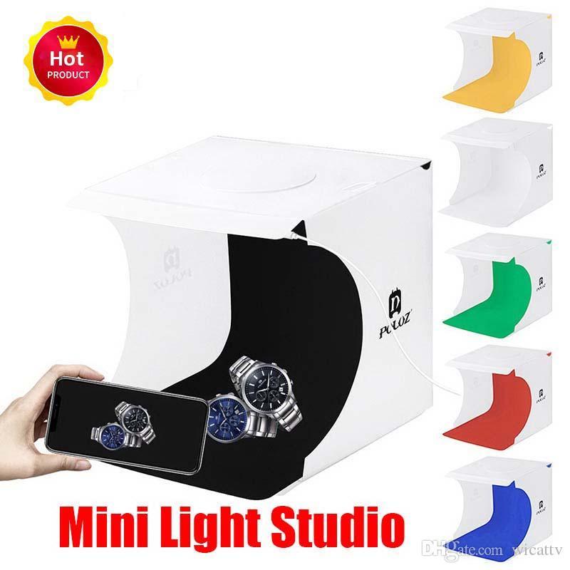 صغيرة قابلة للطي صندوق الصور التصوير استوديو الصور الفوتوغرافي Softbox LED ضوء مربع لينة مربع صور خلفية كيت الضوء لكاميرا DSLR