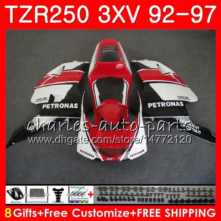 Corpo per YAMAHA nero rosso caldo TZR 250 TZR250 3XV 92 93 94 95 96 97 YPVS RS 119HM.80 TZR250RR TZR-250 1992 1993 1994 1995 1996 1997 Carenatura