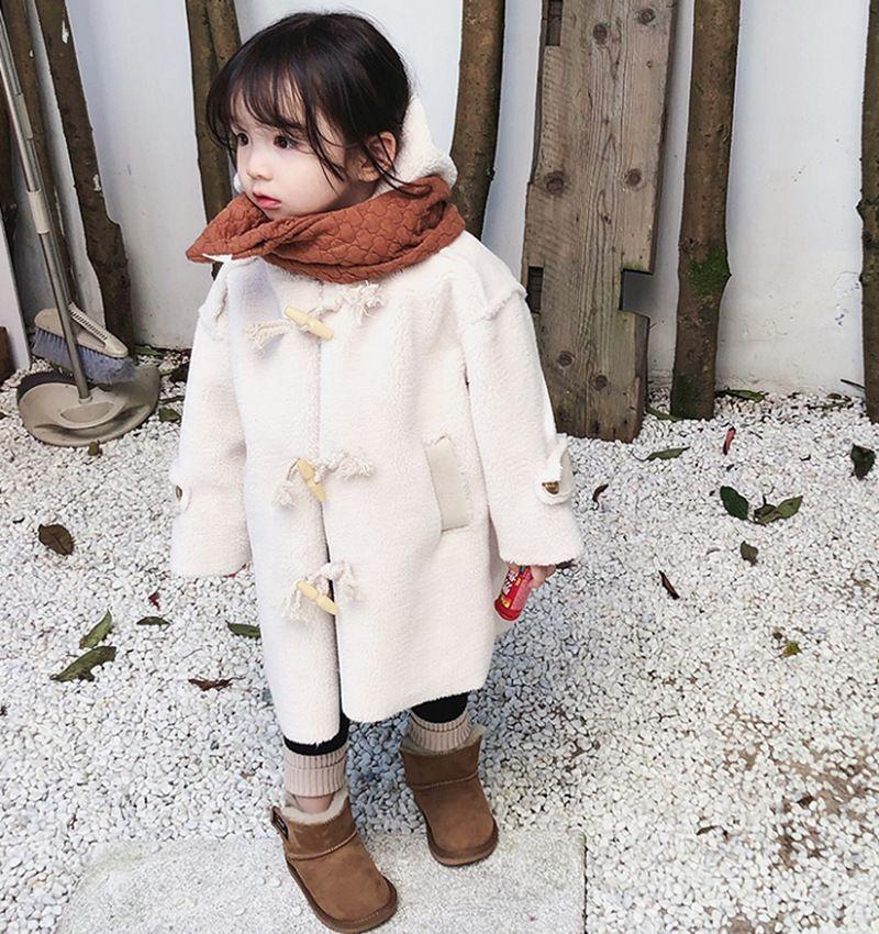 Mihkalev niña coreana chaqueta de invierno para niños abrigo de lana para niños de 2-8 años engrosar abrigo niños cálido traje de nieve