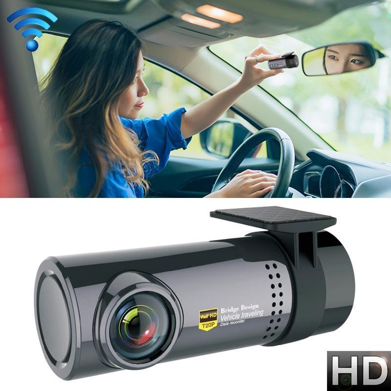 سيارة ميني داش كاميرا واي فاي مراقبة كاملة HD Dashcam مسجل فيديو كاميرا كشف الحركة، ودعم TF بطاقة الروبوت IOS