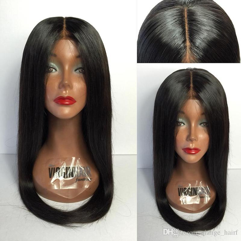 Silky Straight Pre Plucked Full Lace Human Hair Wigs With Baby Hair 130% Density Glueless Brazilian Full Lace Wig Remy