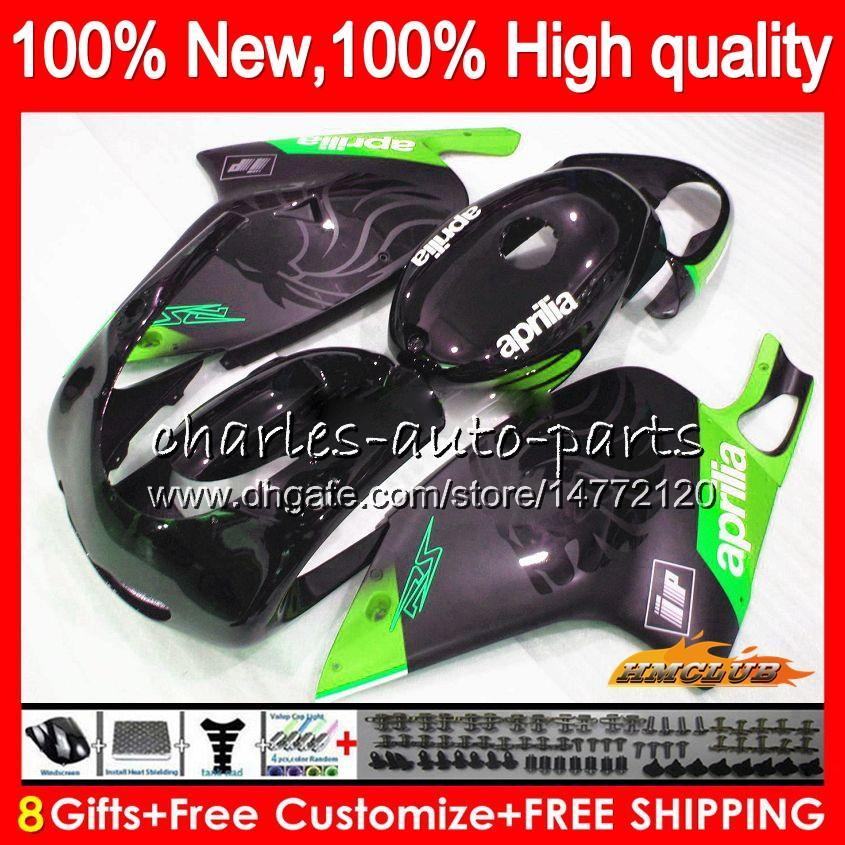 Body Pour Aprilia RSV125R noir vert RS125 RSV125 R RS125 99 00 01 02 03 04 05 70HC.115 RS125R RS 125 1999 2000 2001 2002 2003 2005 Carénage