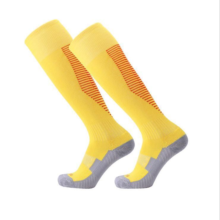 2020 لكرة القدم الجوارب الاطفال الركبة أنبوب عالية أسود أزرق أحمر أصفر جوارب سميكة أشخاص كرة القدم الرياضة الجوارب الطويلة