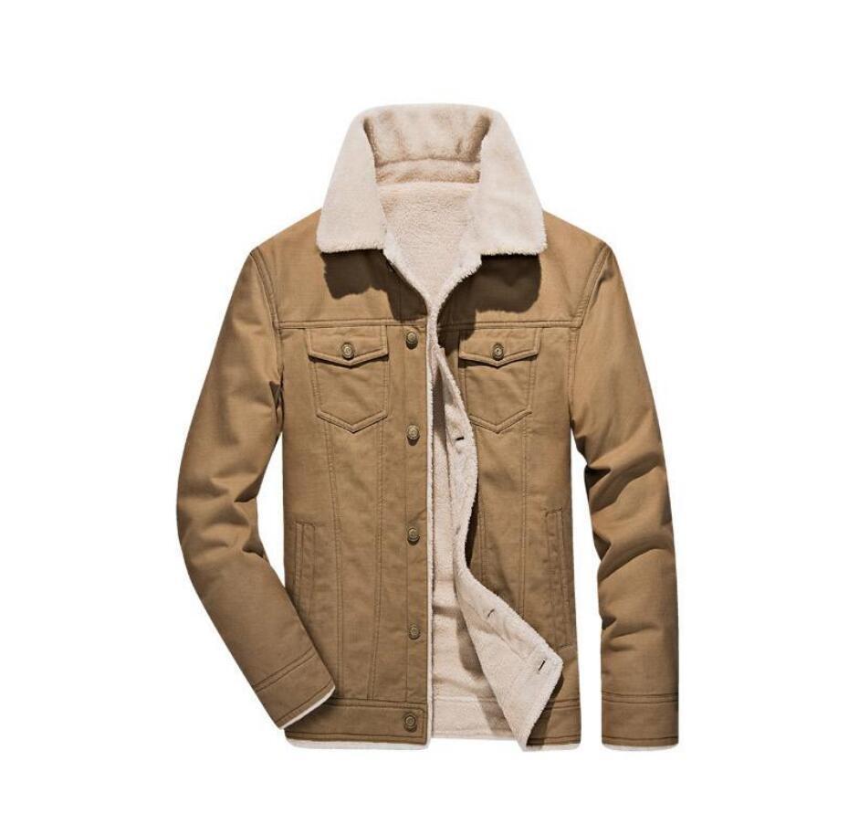 Mens Designer Wintermäntel dicker Baumwolle Fleece Langarm Männer Outer Plus Size Männerkleidung mit Taschen