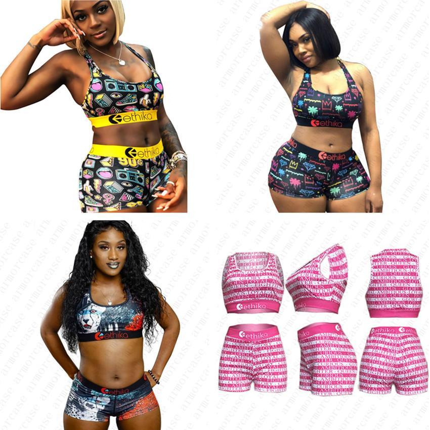 Womens Bikini Swimwear Set Horts Swimsuit Sexy Letter Print Women Bathing Suits Female Tankin Swimwear Vest Beachwear C6402