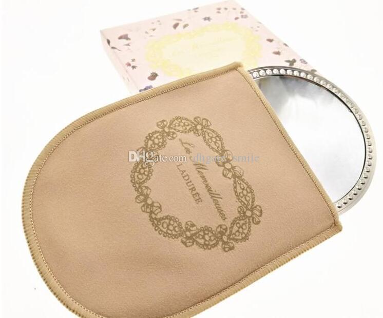 LADUREE Les Merveilleuses miroir de poche el aynası eski metal tutucu cep kozmetik makyaj aynası taşıma çantası ile perakende paket