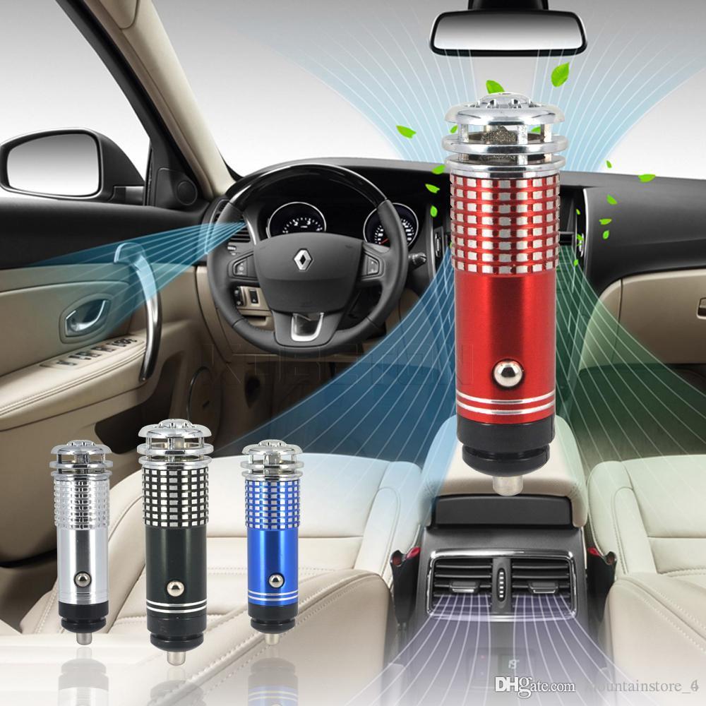 Tragbare Mini-Träger-Auto-Luftreiniger DC12V Auto Auto-Frischluft-Anionen-Ionenreiniger Sauerstoff-Stab-Ozon Ionizer Reinigungsmittel Fresher